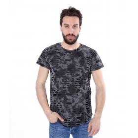 T-shirt casual maniche corte con fori - uomo
