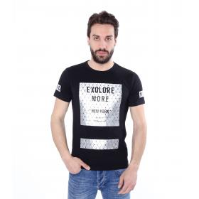T-shirt casual maniche corte con stampe - uomo