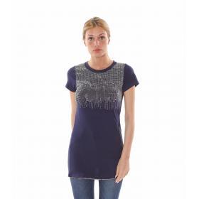 "T-Shirt lunga con cerniera ""Glitter Paris"" - donna"