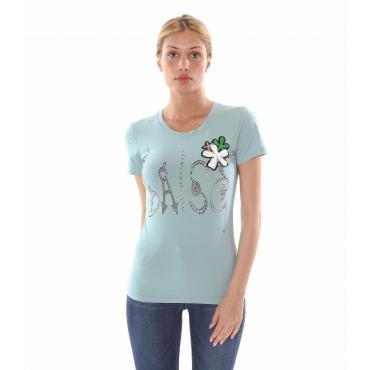 "T-Shirt ""Flower & Silver"" - donna"