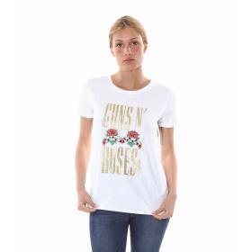 """T-Shirt da donna a maniche corte con stampa """"guns 'n roses"""""""