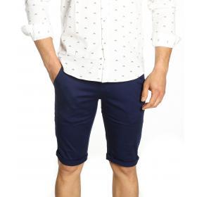 Bermuda fantasy con bottone tasca posteriore - uomo