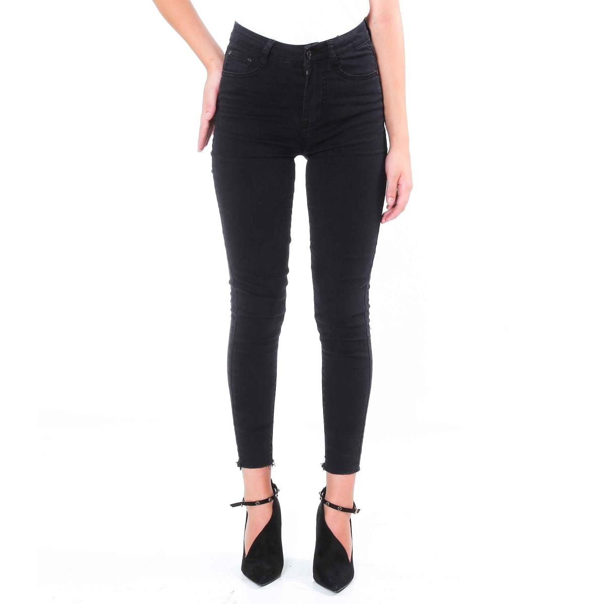 Pantaloni con effetto strappo caviglie - donna