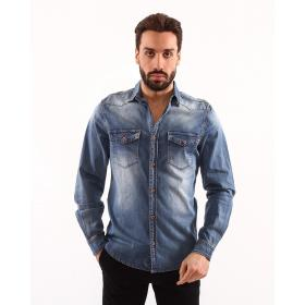 "Camicia casual denim dark ""Rude Man"" - uomo"