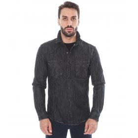 Camicia denim black - uomo