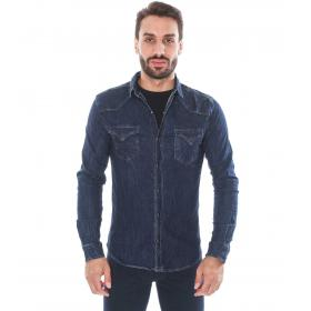 Camicia denim deep blu - uomo