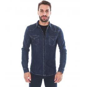 Camicia denim deep blu - uomo