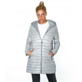 Piumino moda 100 grammi oversize con cappuccio - donna