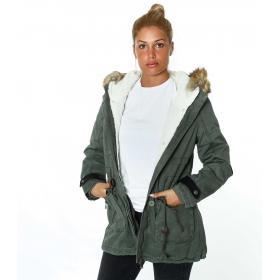 Giubbotto Parka con pelliccia removibile - donna