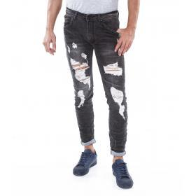 Jeans uomo strappato Denim Premium Quality black