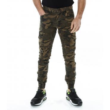 Pantaloni da uomo tasconati Cargo con fantasia camouflage