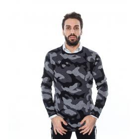 Maglia camouflage con lacci - uomo