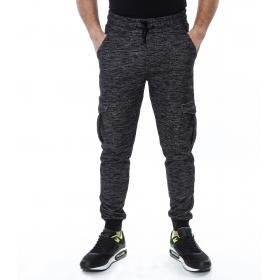 Pantaloni tuta da uomo stile Jersey tasconato con elastico alle caviglie