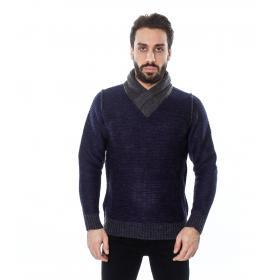 Maglione da uomo con girocollo a fascia - Tony Montoro