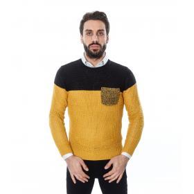 Maglione da uomo bicolore con taschino - Tony Montoro